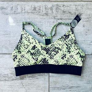 Victoria's Secret Green & Black mesh sports bra XS